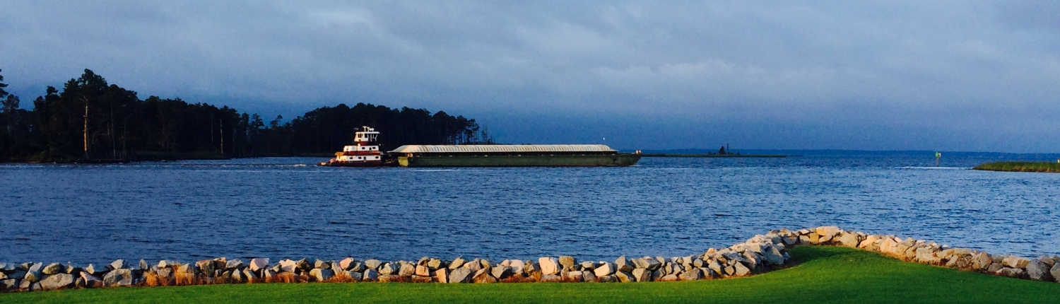 Inland waterway barge shipping via Chowan River and albemarle Sound